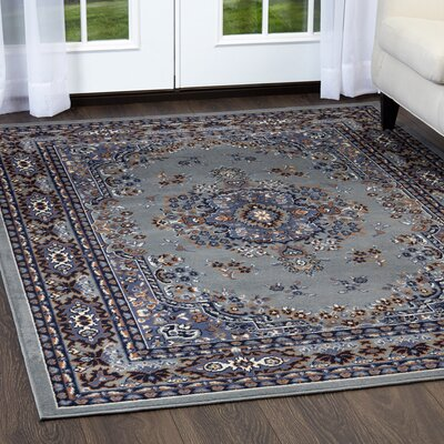 Lilly Silver Area Rug Rug Size: Rectangle 1'9