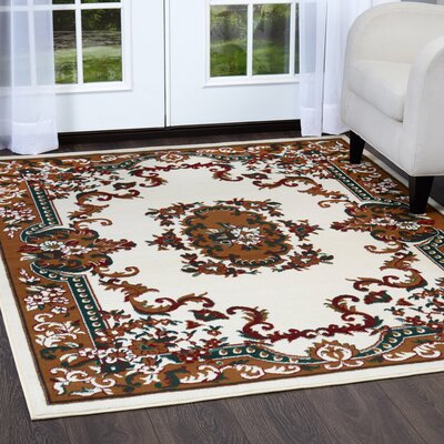 Lilly Beige Area Rug Rug Size: Rectangle 52 x 74
