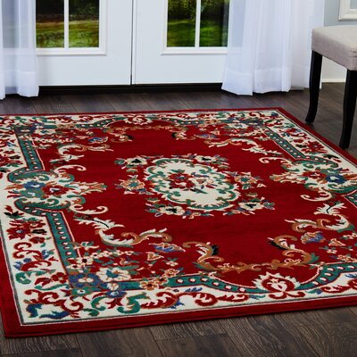 Lilly Claret Area Rug Rug Size: Rectangle 52 x 74