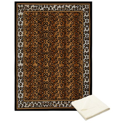 Barlow Brown Area Rug with Rug Pad Rug Size: Rectangle 78 x 107