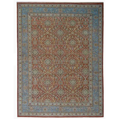 One-of-a-Kind Tabriz Hand-Knotted Wool Red Area Rug
