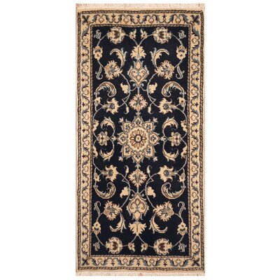 One-of-a-Kind Rosedale Hand-Knotted Navy/Ivory Area Rug