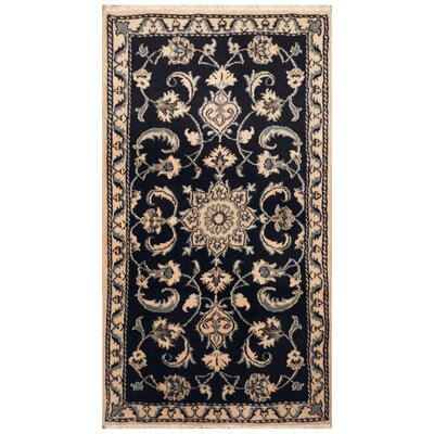 One-of-a-Kind Rosati Hand-Knotted Navy/Ivory Area Rug