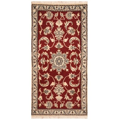 One-of-a-Kind Ronquillo Hand-Knotted Red/Ivory Area Rug