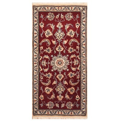 One-of-a-Kind Rooker Hand-Knotted Red/Ivory Area Rug
