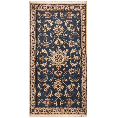 One-of-a-Kind Rosamond Hand-Knotted Blue/Ivory Area Rug