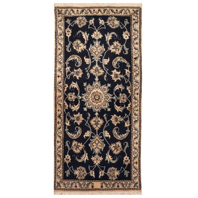 One-of-a-Kind Rosenbalm Hand-Knotted Navy/Ivory Area Rug