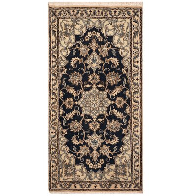 One-of-a-Kind Rosehill Hand-Knotted Navy/Ivory Area Rug