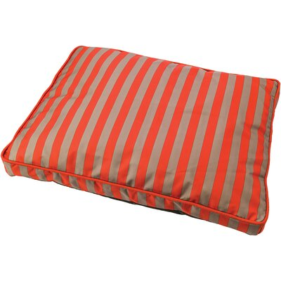 Cabana Sleep Zone Dog Pillow Color: Orange, Size: 23 W x 15 D x 7 H