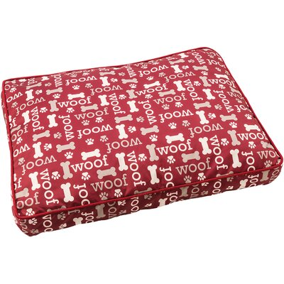 Sleep Zone Woof Dog Pillow Color: Burgundy, Size: 31