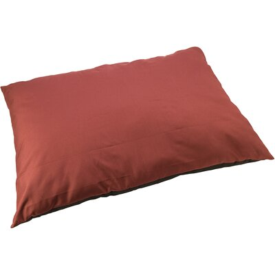 Sleep Zone Water Resistant Dog Pillow Color: Maroon, Size: 29 W x 19 D x 6 H