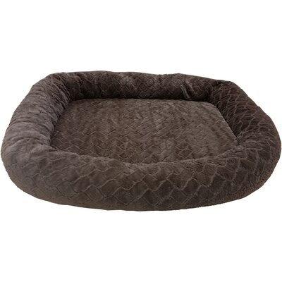 Sleep Zone Diamond Cut Orthopedic Bolster Dog Bed Color: Chocolate