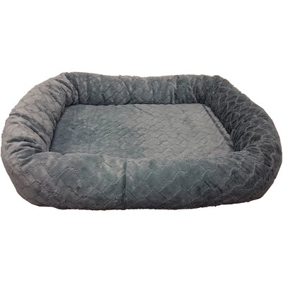 Sleep Zone Diamond Cut Orthopedic Bolster Dog Bed Color: Gray
