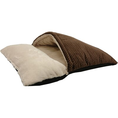 Sleep Zone Burrow Hooded Dog Bed Color: Chocolate, Size: 16 W x 10 D x 7 H