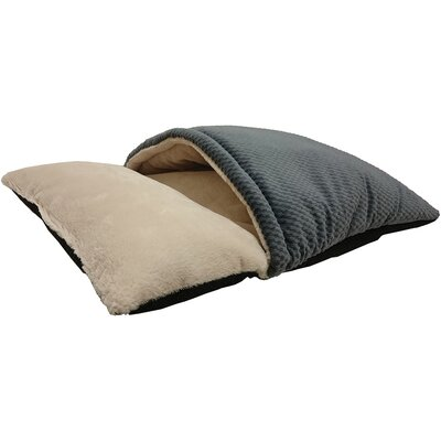Sleep Zone Burrow Hooded Dog Bed Color: Blue, Size: 15 W x 13 D x 7 H