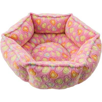 Sleep Zone Hexagon Cuddlier Hearts Bolster Dog Bed Color: Pink Hearts