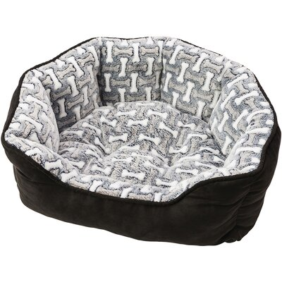 Sleep Zone Cuddle Cave Corduroy Bolster Dog Bed Color: Midnight, Size: 21 W x 13 D x 6 H
