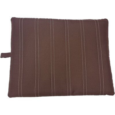 Sleep Zone Durable Pet Pad Bed Color: Chocolate, Size: 24.5 W x 20 D x 2 H