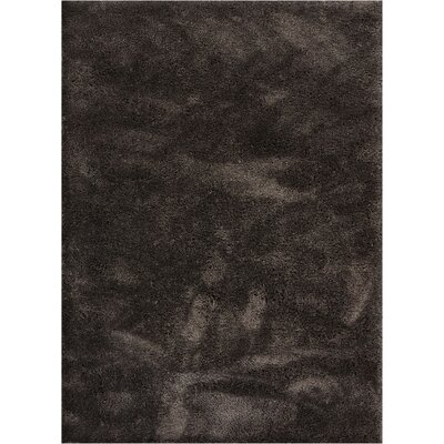 Cervantez Modern Solid Soft Power Loom Peppercorn Gray Area Rug Rug Size: 93 x 126