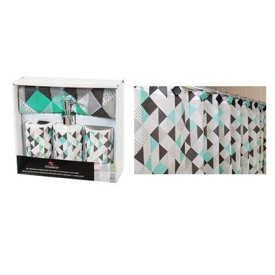 Diamond Vinyl Shower Curtain Set NOV-1354DD