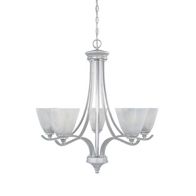 Holm 5-Light Candle-Style Chandelier Finish: Pewter