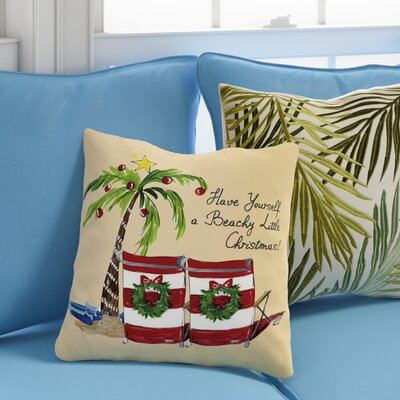 Ashworth Beachy Little Christmas Throw Pillow Size: 16 H x 16 W x 3 D