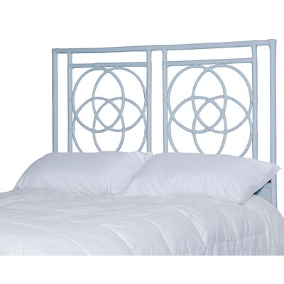 Eldert Open-Frame Headboard Color: Light Blue, Size: Queen