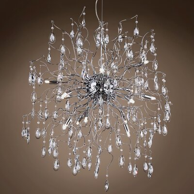 Silvestre 15-Light Crystal Pendant Bulb Type: LED, Crystal: Asfour