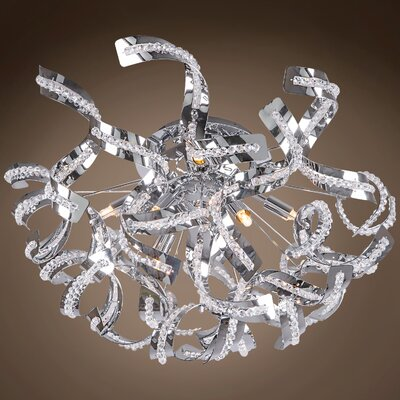 Montross 8-Light Flush Mount Bulb Type: LED