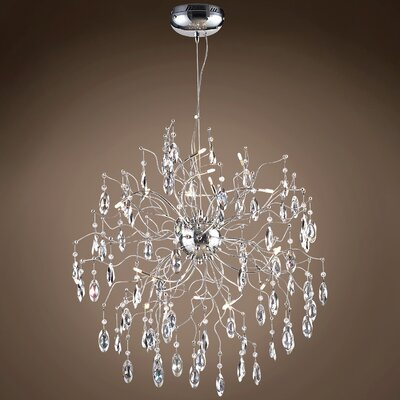 Silvestre 12-Light Crystal Pendant Bulb Type: Incandescent, Crystal: European