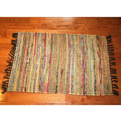 One-of-a-Kind Linmore Over-Dyed Hand-Woven Tan Area Rug Rug Size: Rectangle 4 x 6
