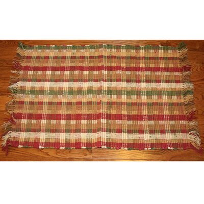 One-of-a-Kind Linmore Ticking Check Hand-Woven Burgundy Area Rug Rug Size: Rectangle 3 x 5