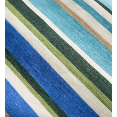 Shenandoah Tufted Outdoor Floor Pillow Color: Teal Stripe