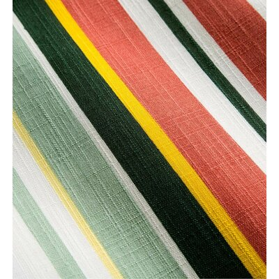 Shenandoah Tufted Outdoor Floor Pillow Color: Sunshine Stripe