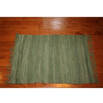 One-of-a-Kind Linmore Solid Celadon Hand-Woven Green Area Rug Rug Size: Rectangle 3 x 5