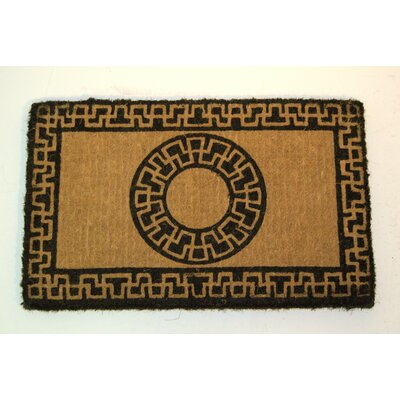 Center Drive Reverse Greek Key Doormat Mat Size: Rectangle 16 x 26