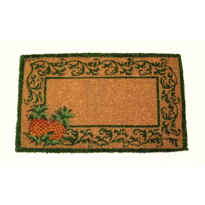 Tampa Pineapple Doormat Mat Size: Rectangle 110 x 3