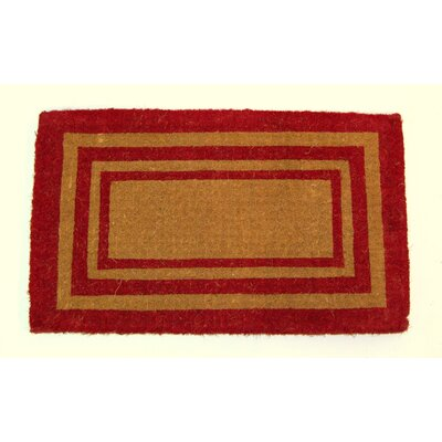 Balmer Bleach Triple Border Doormat Mat Size: Rectange 2 x 33, Color: Brown/Red