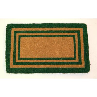 Balmer Bleach Triple Border Doormat Mat Size: Rectange 16 x 26, Color: Brown/Green