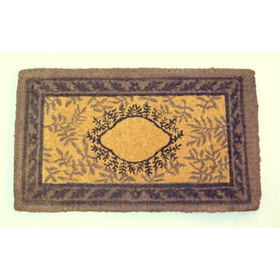 Haveman Leaf Doormat Mat Size: Rectangle 26 x 4