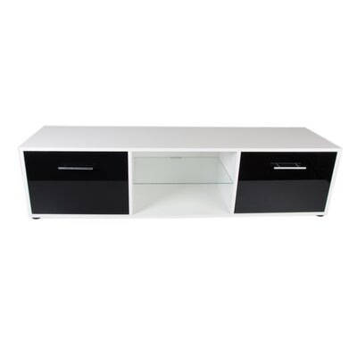 Engler 59 TV Stand Color: White/Black