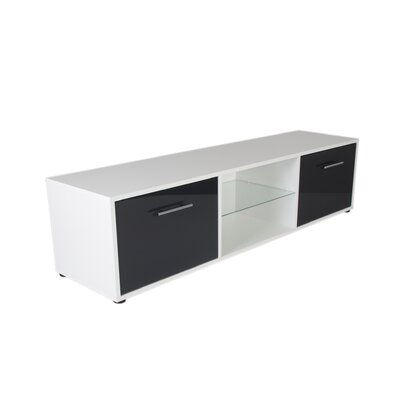 Engler 59 TV Stand Color: White/Gray