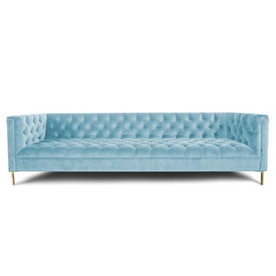 Hollywood Sofa Upholstery: Velvet - Capri Blue