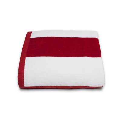 Tropical Cabana Beach Towel Color: Red
