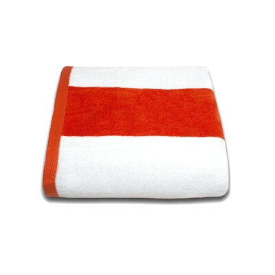 Tropical Cabana Beach Towel Color: Orange