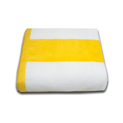 Tropical Cabana Beach Towel Color: Yellow
