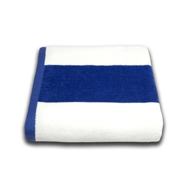Tropical Cabana Beach Towel Color: Royal