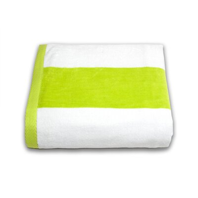 Tropical Cabana Beach Towel Color: Lime