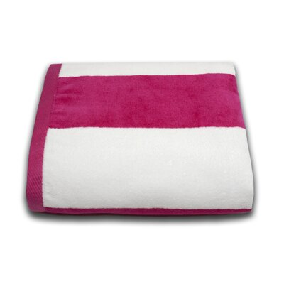 Tropical Cabana Beach Towel Color: Fuchsia