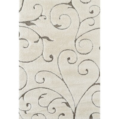 Dostie Cream Area Rug Rug Size: Rectangle 51 x 76